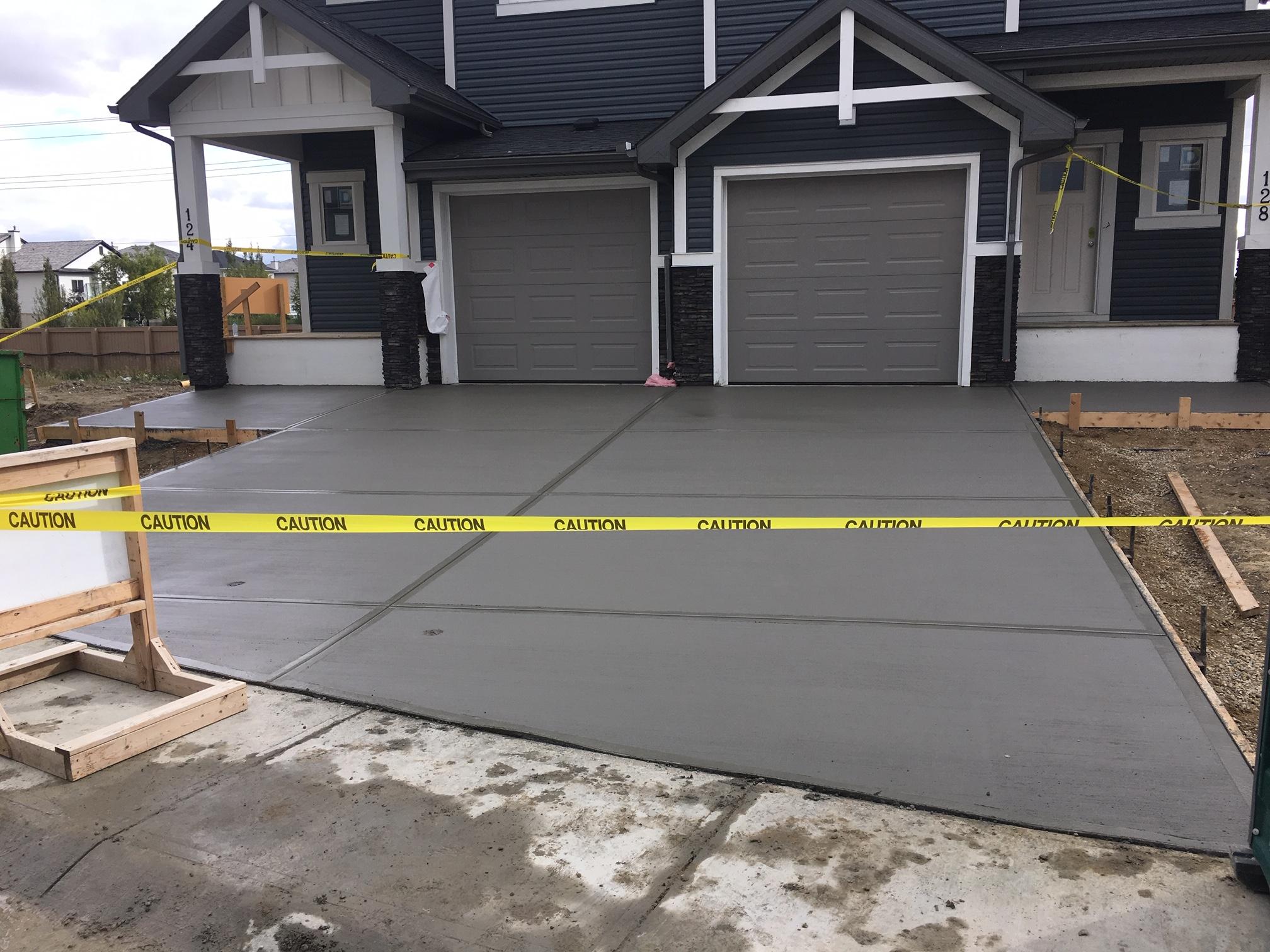 New Build Condo Driveway